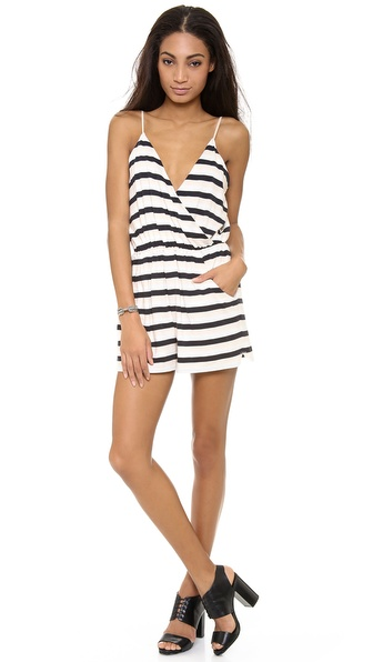 Addison Downey Tank Romper - Sand Combo at Shopbop / East Dane