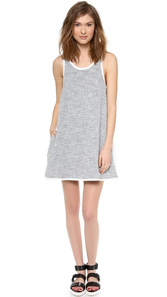Addison Roxy Oversized Pocket Swing Dress - Grey Combo at Shopbop / East Dane