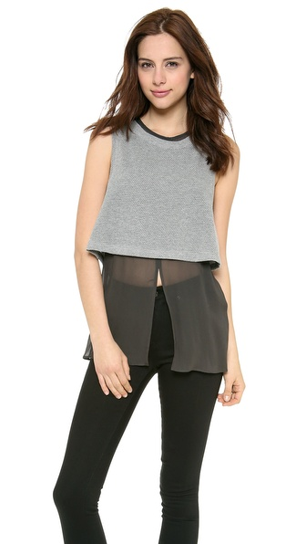 Addison Tye Layered Tank - Heather Grey at Shopbop / East Dane