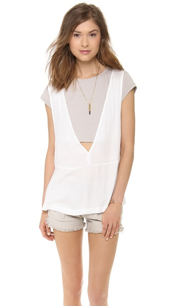Addison Evert Layered Tee Tunic - White at Shopbop / East Dane