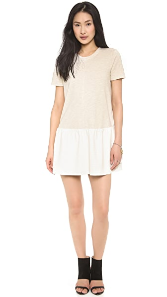 ADDISON Dawson Drop Waist Sweatshirt Dress