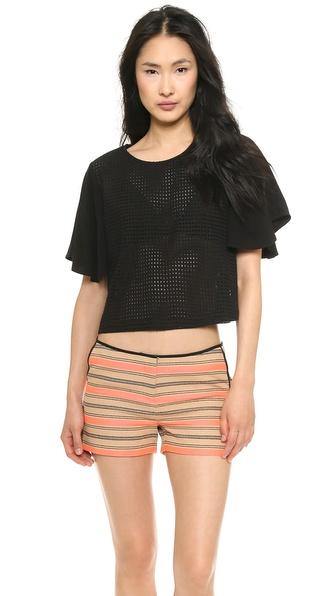 Addison Pike Full Sleeve Top - Black at Shopbop / East Dane