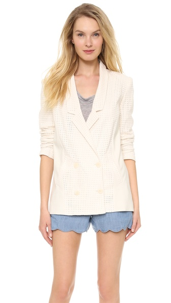 Addison Seamed Ex Boyfriend Blazer - Antique White at Shopbop / East Dane