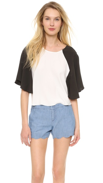 Addison Blake Swing Sleeve Top - White at Shopbop / East Dane