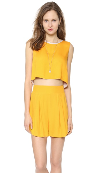 Addison Addison X We Wore What Reversible Top - Ash Tangerine Combo at Shopbop / East Dane