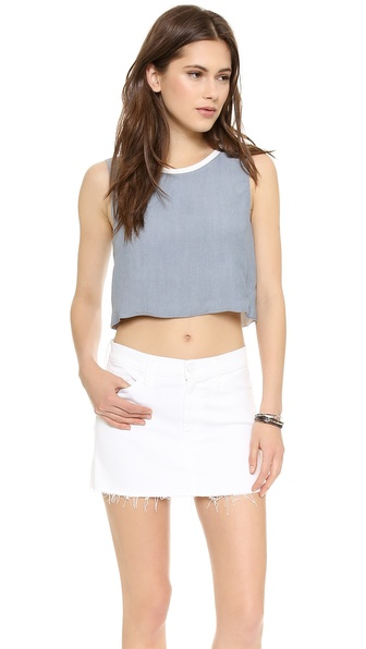 Addison Addison X We Wore What Reversible Top - Chambray White at Shopbop / East Dane