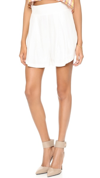 Addison Addison X We Wore What Swing Shorts - White at Shopbop / East Dane
