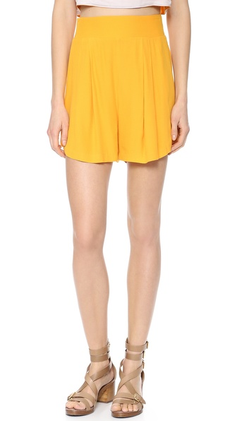 Addison Addison X We Wore What Swing Shorts - Tangerine at Shopbop / East Dane