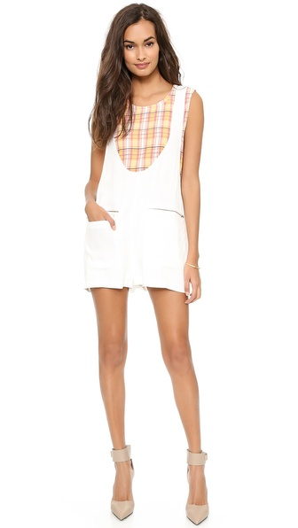 Addison Addison X We Wore What Perfect Shift Romper - White at Shopbop / East Dane