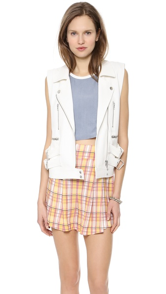 Addison Addison X We Wore What Structured Moto Vest - White at Shopbop / East Dane