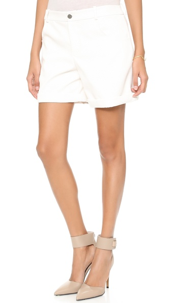 Addison Addison X We Wore What Boyfriend Shorts - White at Shopbop / East Dane