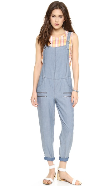 Addison Addison X We Wore What Perfect Overalls - Chambray at Shopbop / East Dane