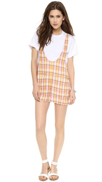 Addison Addison X We Wore What Romper - Tangerine at Shopbop / East Dane