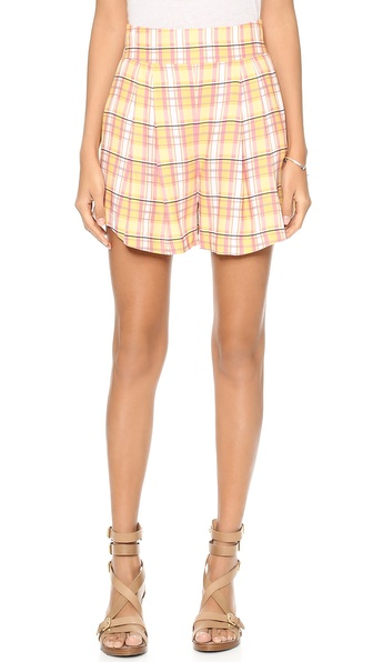 Addison Addison X Weworewhat Swing Shorts - Tangerine at Shopbop / East Dane