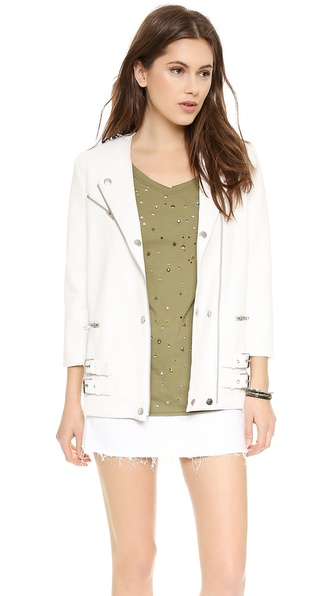 Addison Addison X We Wore What Perfect Moto Jacket - White at Shopbop / East Dane