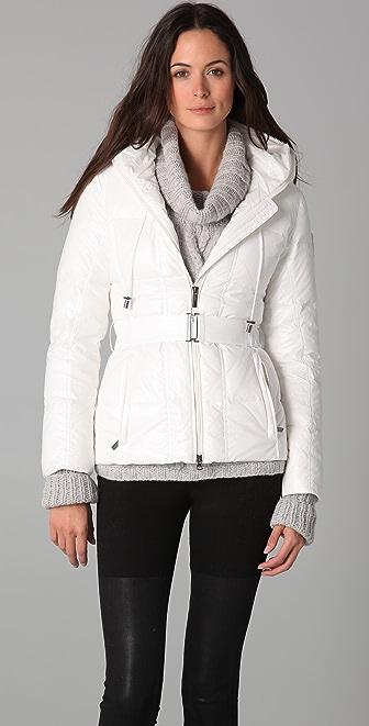 Add Down Shiny Puffer Jacket