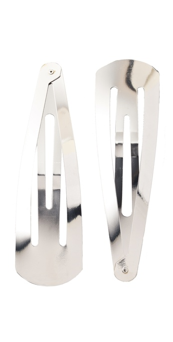Adia Kibur Jumbo Hair Clips - Silver at Shopbop / East Dane