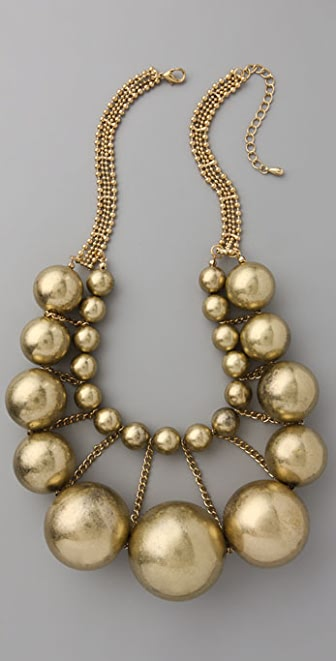 Adia Kibur Gold Ball Necklace