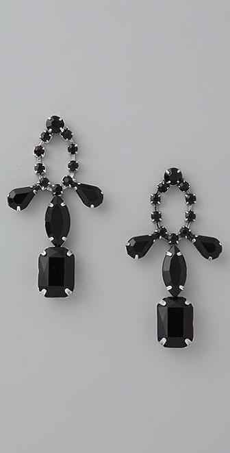 Adia Kibur Black Stone Earrings