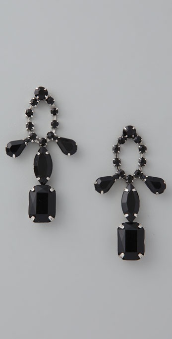 Adia Kibur Black Stone Earrings
