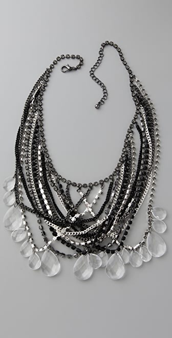 Adia Kibur Mixed Chain & Stone Necklace