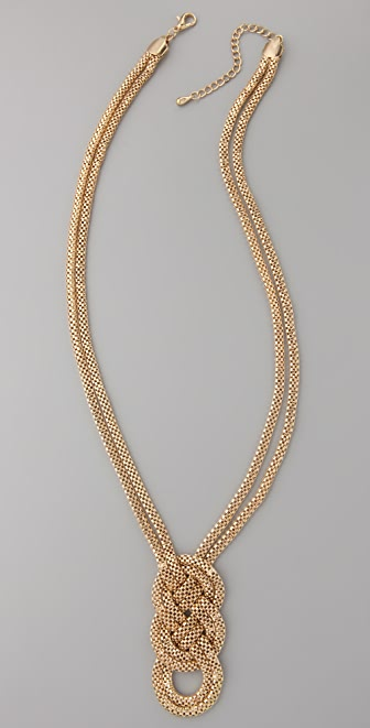 Adia Kibur Jumbo Pretzel Necklace