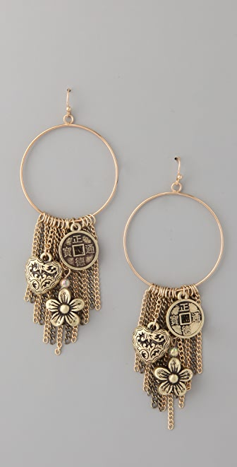Adia Kibur Multi Charm Earrings