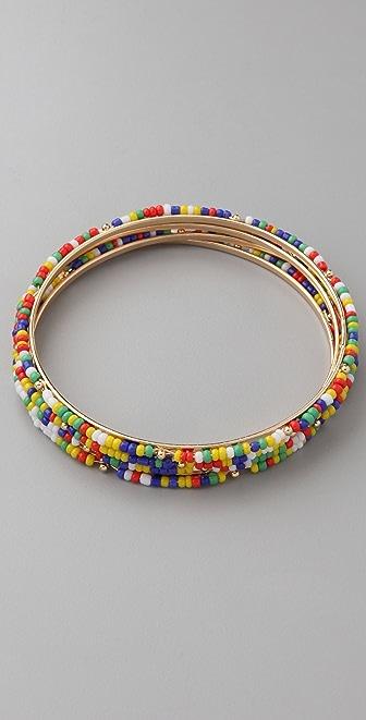Adia Kibur Seed Bead Bangle Set