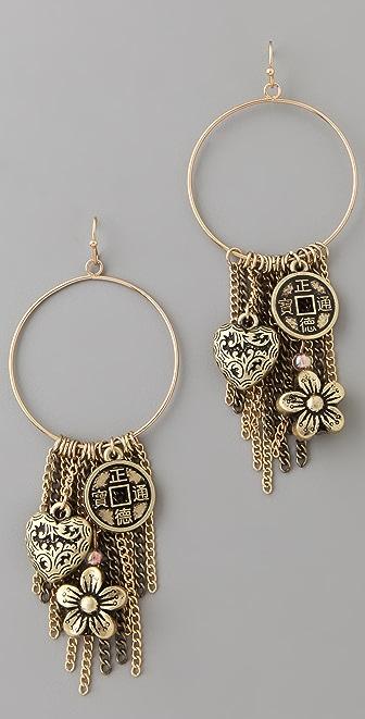 Adia Kibur Multi Charm Earrings
