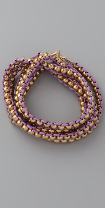 Adia Kibur Beaded Cord Wrap Bracelet