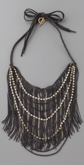 Adia Kibur Beaded Bib Necklace