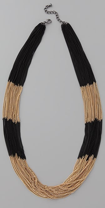 Adia Kibur Chain Stripe Necklace