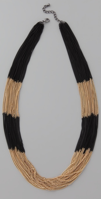 Adia Kibur Chain Stripe Necklace
