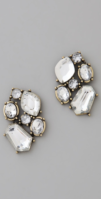 Adia Kibur Crystal Cluster Earrings