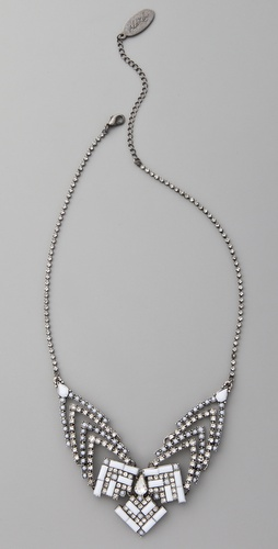 Adia Kibur Studded Triangles Bib Necklace