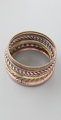 Adia Kibur Mixed Metal Bangle Set