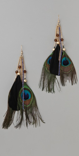 Adia Kibur Black Feather Earrings