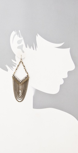 Adia Kibur Gold Chain & Crystal Earrings