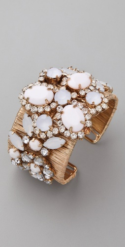 Adia Kibur Acrylic & Crystal Stone Cuff