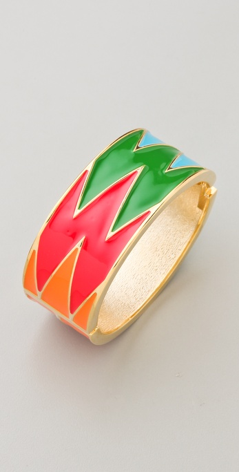 Adia Kibur Enamel Hinged Bangle