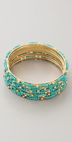 Adia Kibur Beaded Bangle Set