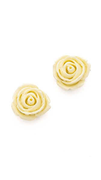 Adia Kibur Rose Stud Earrings