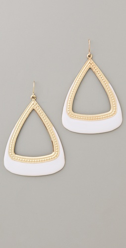 Adia Kibur Gold & Enamel Drop Earrings