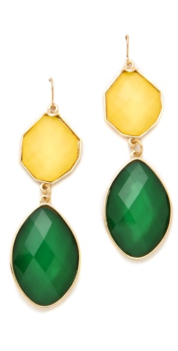 Adia Kibur Two Stone Drop Earrings