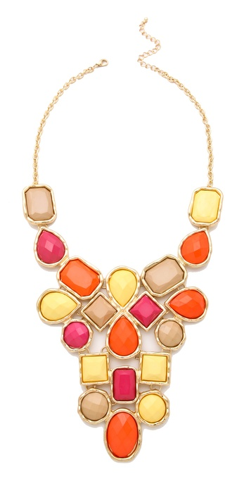 Adia Kibur Multi Stone Bib Necklace