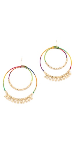 Adia Kibur Bright Double Hoop Earrings