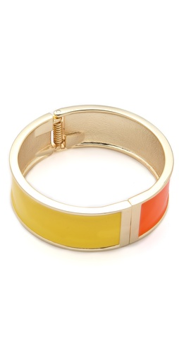 Adia Kibur Colorblock Enamel Hinge Cuff
