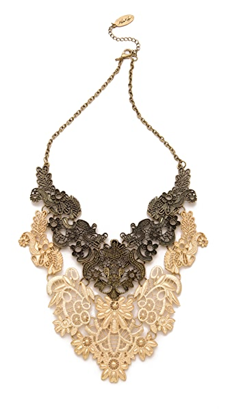 Adia Kibur Floral Statement Necklace