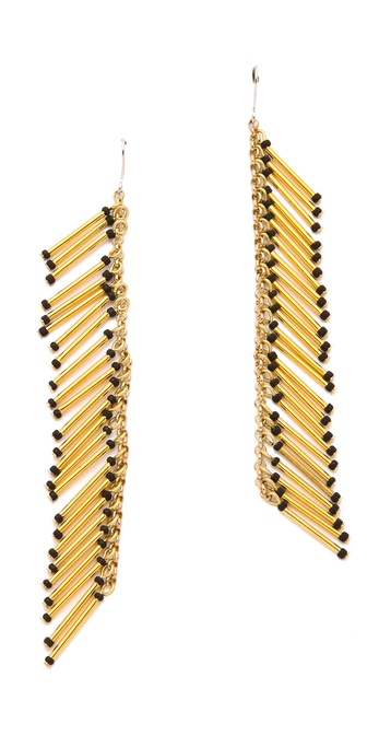 Adia Kibur Beaded Fringe Earrings