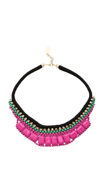 Adia Kibur Bright Rocks Crystal Rope Necklace